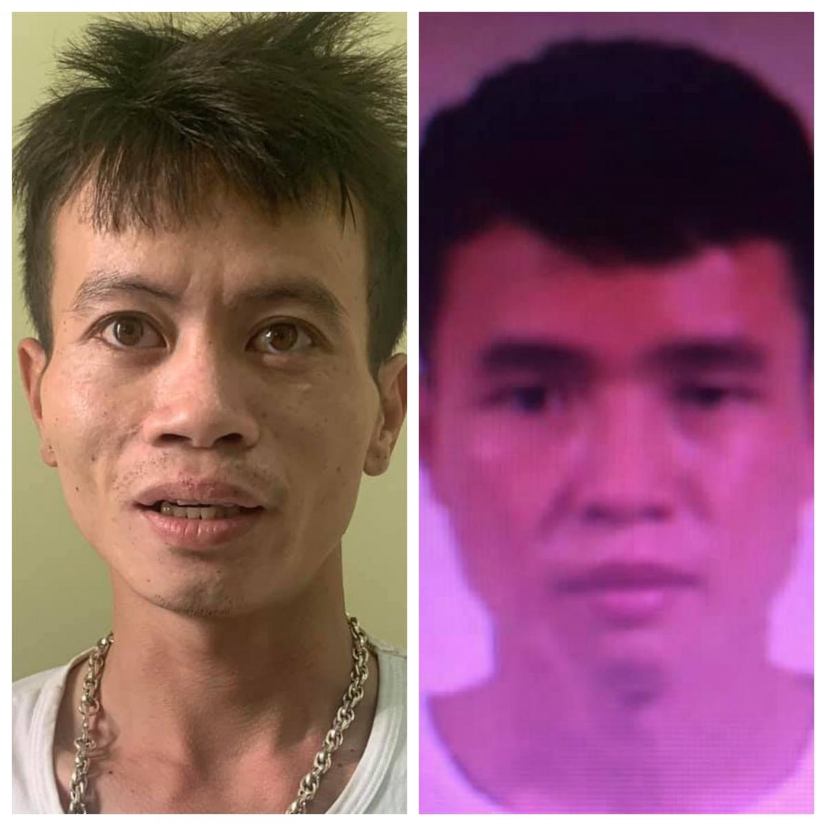 Hai đối tượng Chinh (tay trái) và Hải.