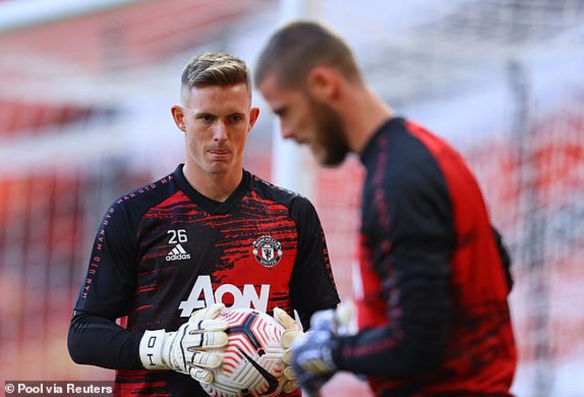 Henderson tiếp tục dự bị cho đàn anh De Gea. (Ảnh: Reuters)