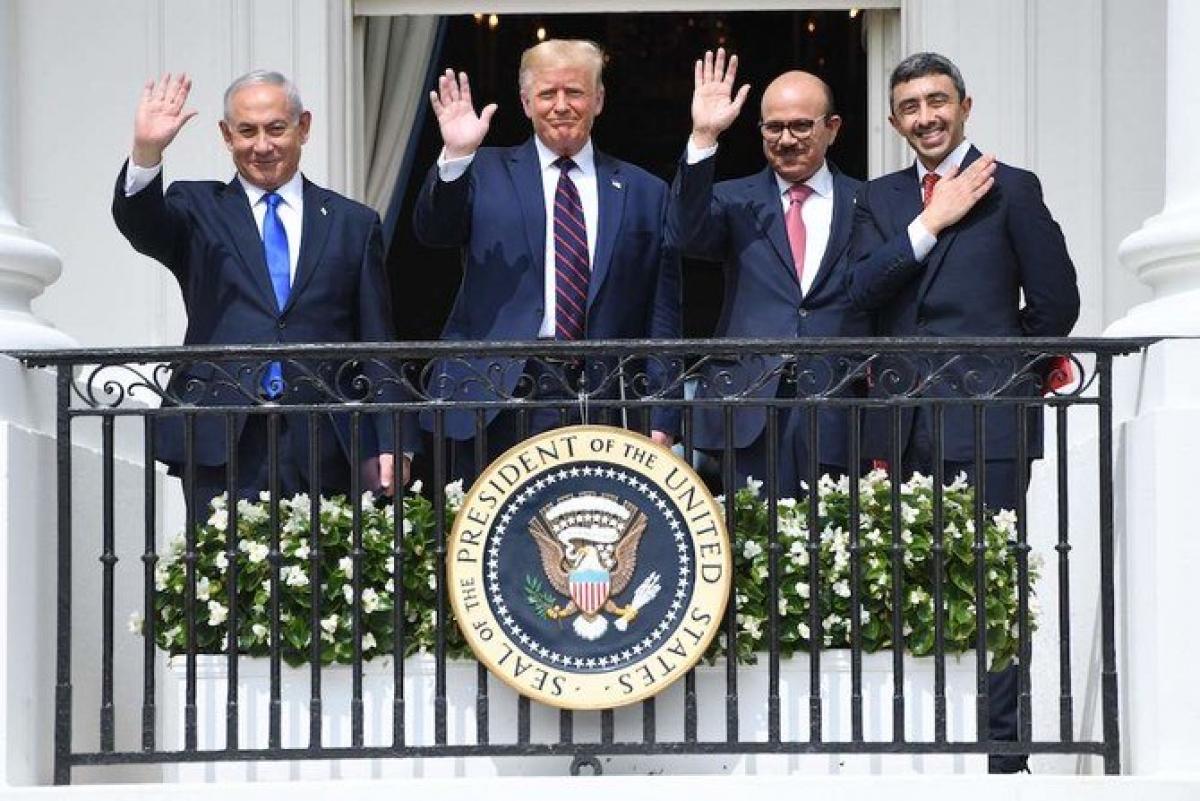 Ông Trump được cho là người đặt nền móng cho việc ký kết các thỏa thuận bình thường hóa quan hệ giữa Israel với Bahrain và UAE. Ảnh: AFP.