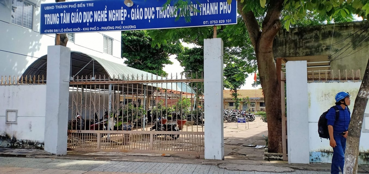 Trung tâm Giáo dục nghề nghiệp - Thường xuyên Thành phố Bến Tre.