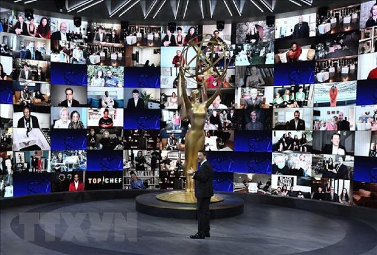 Lễ trao giải truyền hình Emmy lần thứ 72 được tổ chức trực tuyến tại trung tâm Staples ở Los Angeles, Mỹ, ngày 20/9/2020. (Ảnh: AFP)