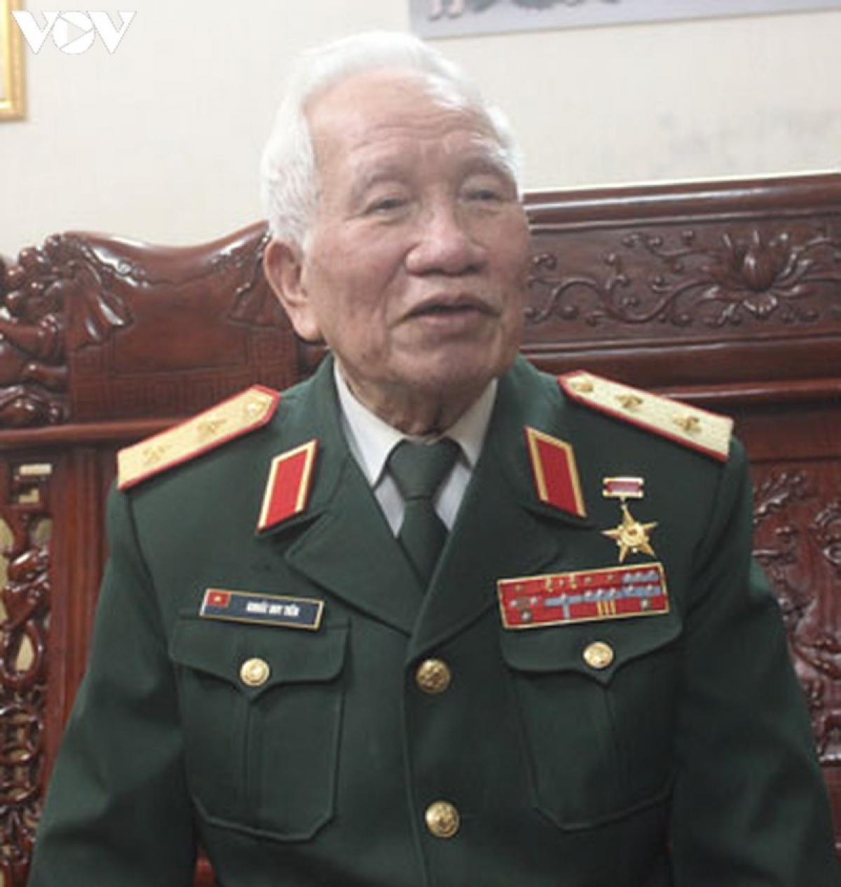 Trung tướng Khuất Duy Tiến - nguyên Tư lệnh Quân đoàn 3.