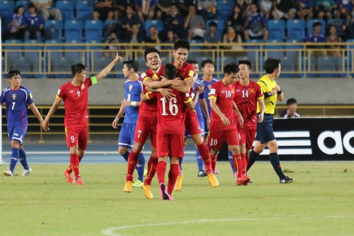 Hình ảnh từ trận Đài Bắc Trung Hoa 1-2 ĐT Việt Nam cách đây 5 năm. (Ảnh: FIFA).