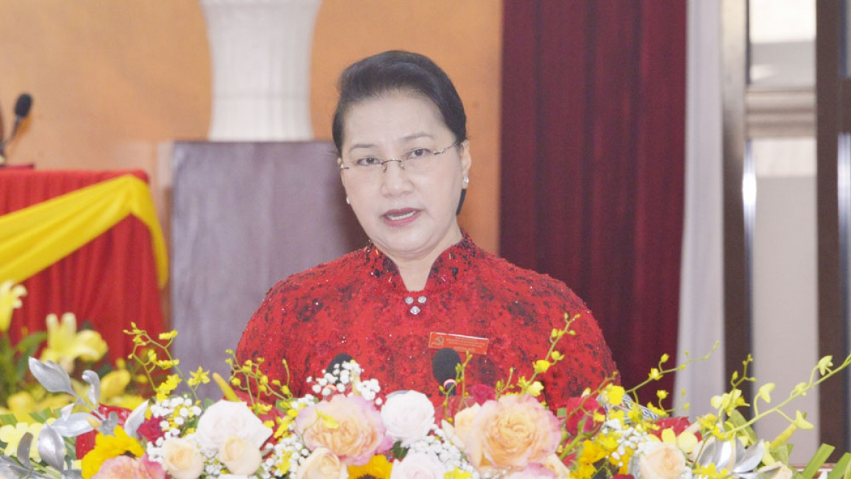 Chủ tịch Quốc hội Nguyễn Thị Kim Ngân phát biểu chỉ đạo Đại hội