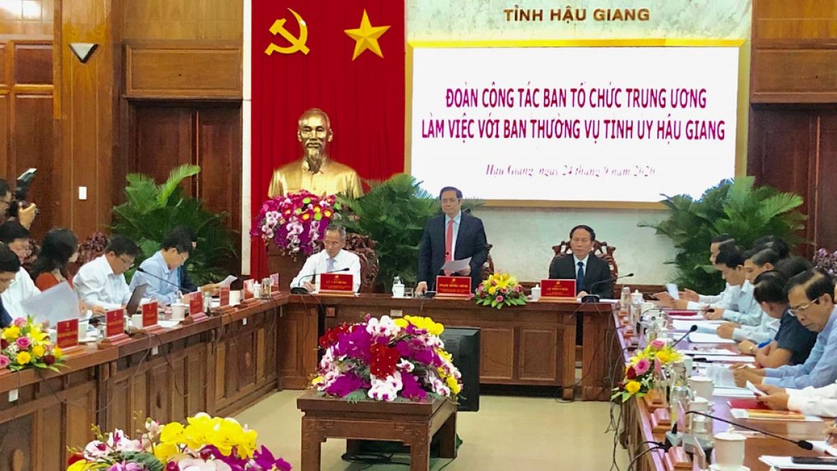 Ông Phạm Minh Chính - Ủy viên Bộ Chính trị, Bí thư Trung ương Đảng, Trưởng Ban Tổ chức Trung ương phát biểu chỉ đạo