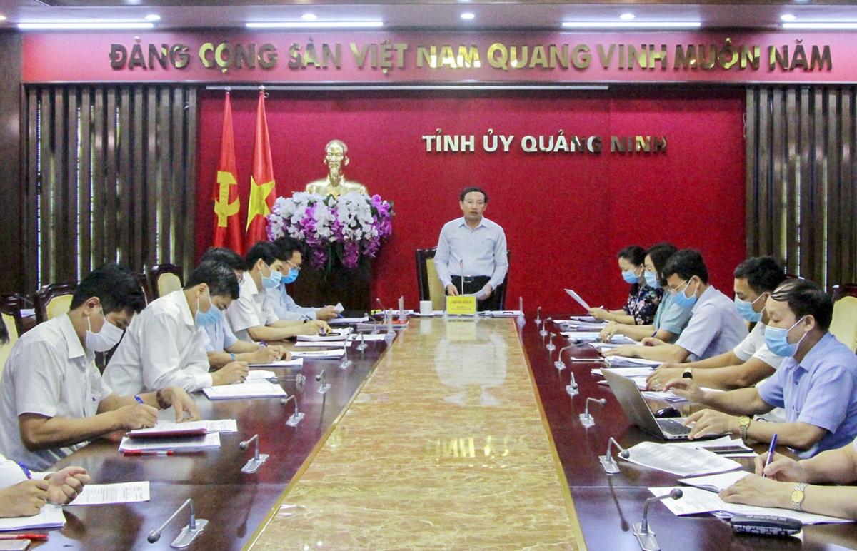 Tỉnh ủy Quảng Ninh liên tục đôn đốc, chỉ đạo sát sao công tác chuẩn bị tổ chức Đại hội tỉnh tổ chức vào cuối tháng 9 này.