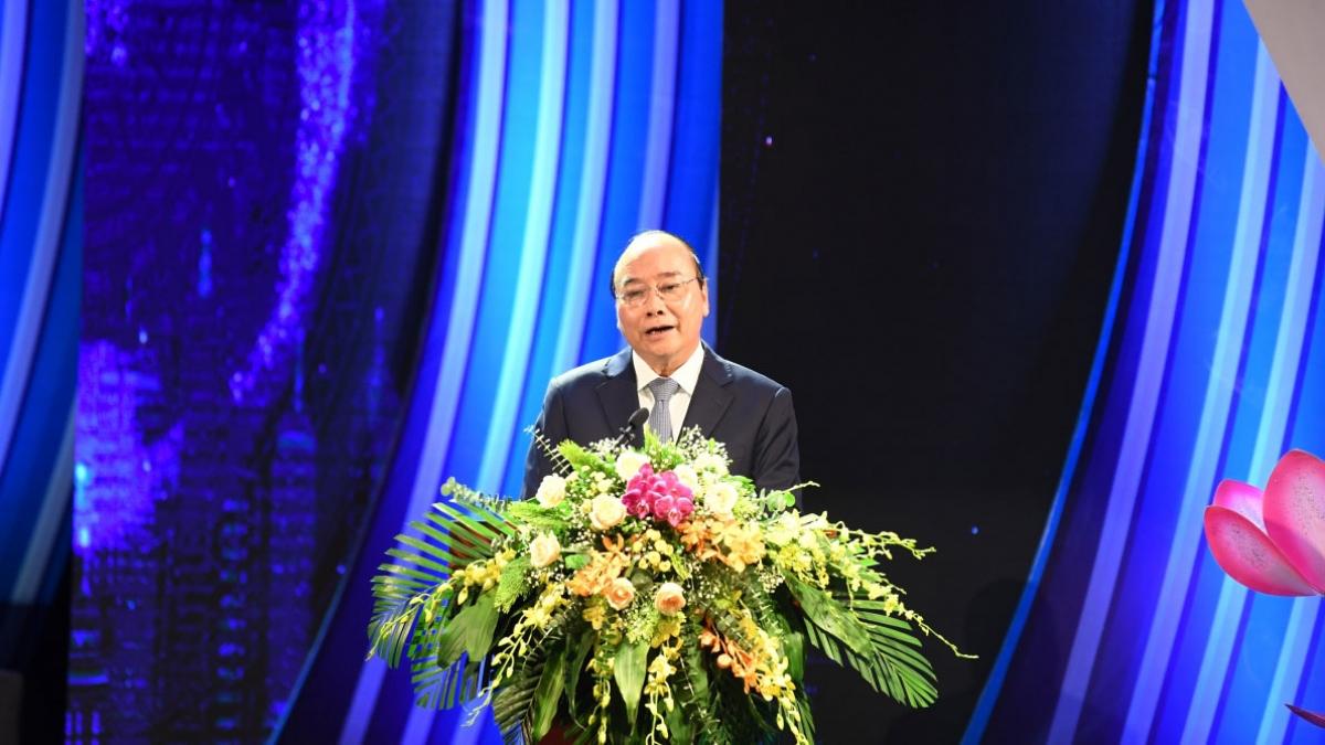 Thủ tướng Chính phủ Nguyễn Xuân Phúc phát biểu tại Lễ kỷ niệm 75 năm Ngày thành lập Đài TNVN.