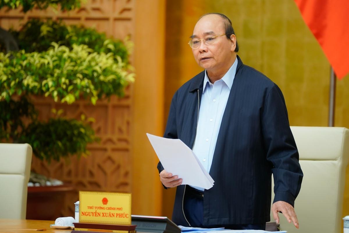 Thủ tướng Nguyễn Xuân Phúc chỉ đạo về giải ngân vốn ODA. (Ảnh: VGP)