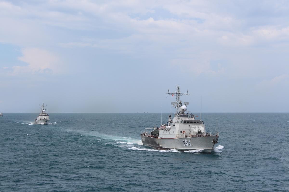 Biên đội tàu 264, 265 Hải đội 512, Lữ đoàn 127 tuần tra trên biển. Nguồn ảnh: Văn Định (Vùng 5 Hải quân)