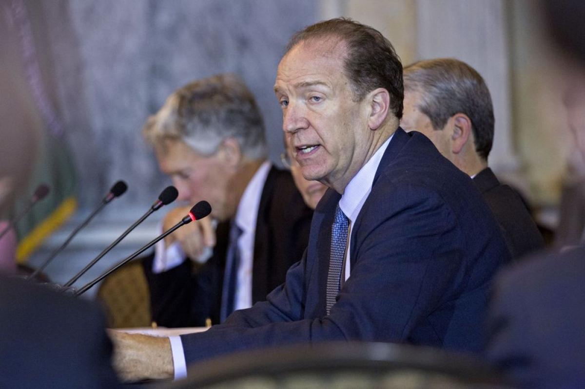 Chủ tịch Ngân hàng thế giới David Malpass. (Ảnh: Andrew Harrer/Bloomberg).