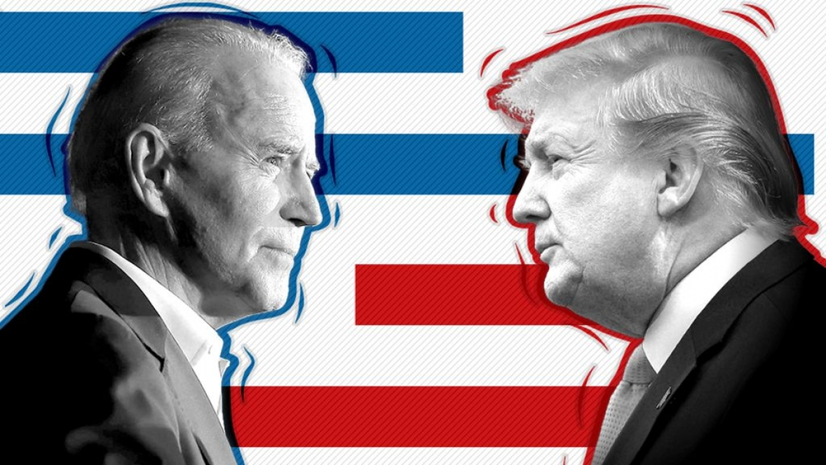 Biden liên tục dẫn trước Trump tại các cuộc thăm dò dư luận. Ảnh: BBC