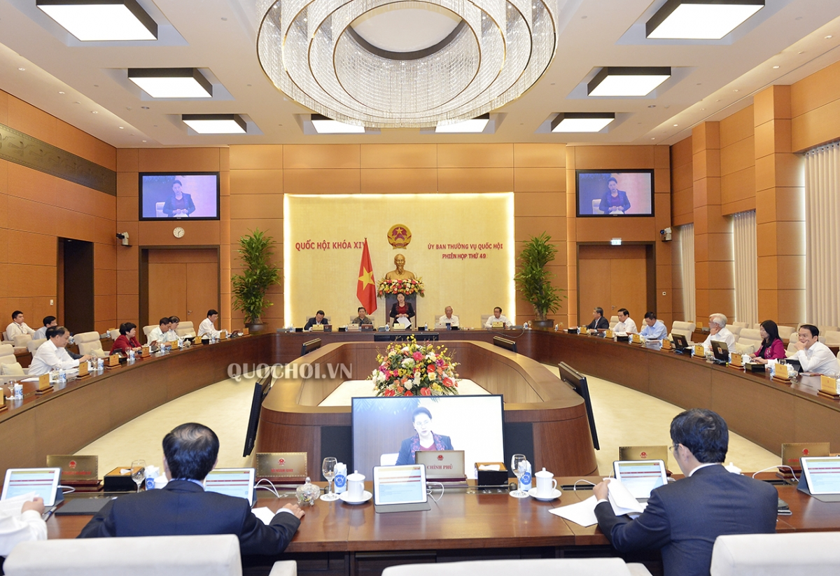 Toàn cảnh Khai mạc Phiên họp thứ 49 của Ủy ban Thường vụ Quốc hội.