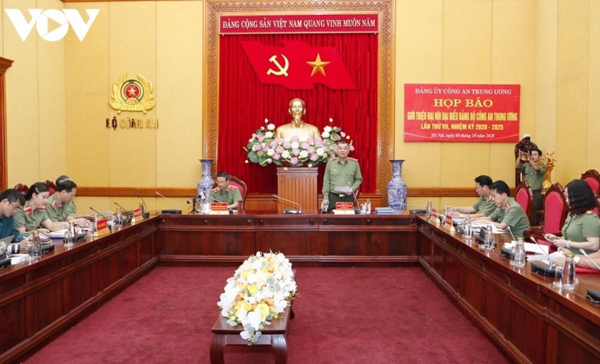 Họp báo giới thiệu Đại hội đại biểu Đảng bộ Công an Trung ương lần thứ VII, nhiệm kỳ 2020 - 2025.