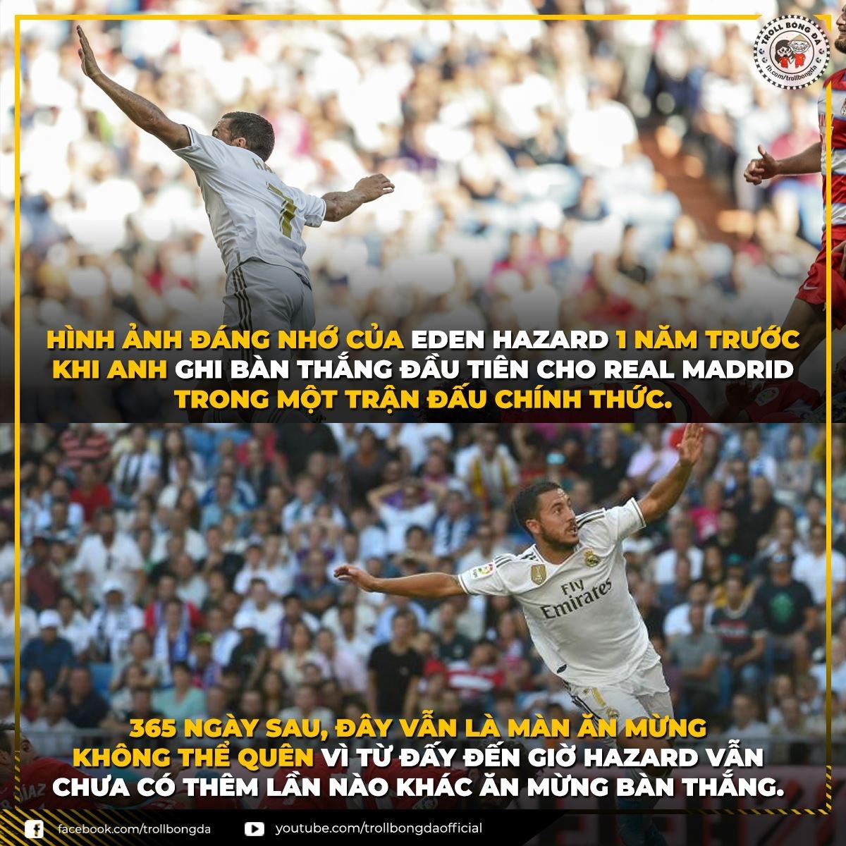 Paul Pogba nên cân nhắc tấm gương Eden Hazard nếu muốn sang Real Madrid. (Ảnh: Troll Bóng Đá)
