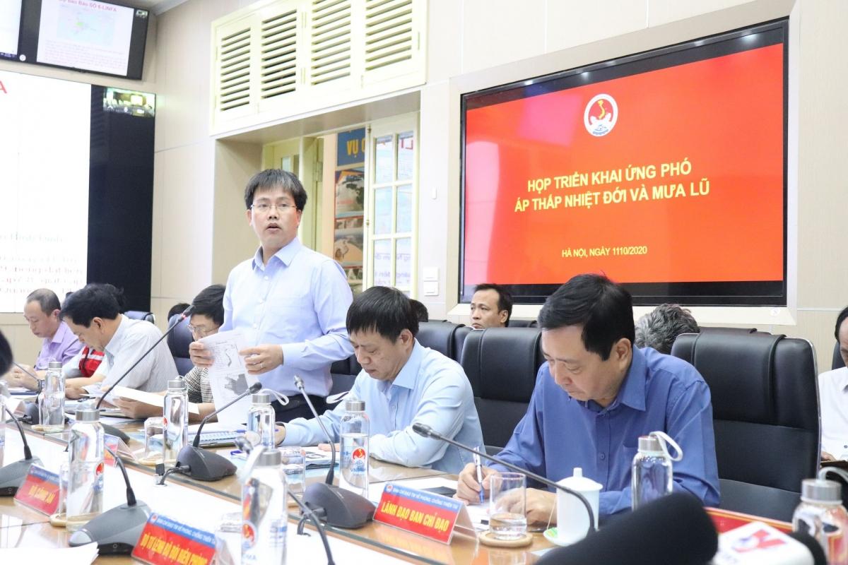 Giám đốc Trung tâm Dự báo Khí tượng Thuỷ văn Quốc gia Mai Văn Khiêm phát biểu.