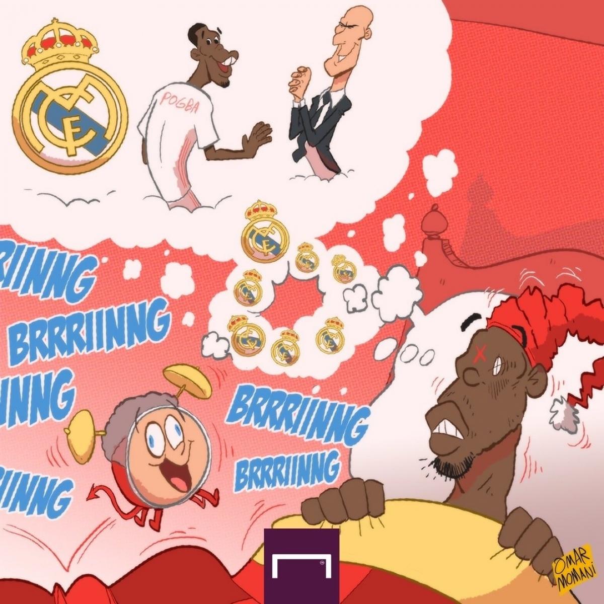 Paul Pogba ôm giấc mơ khoác áo Real Madrid. (Ảnh: Omar Momani)