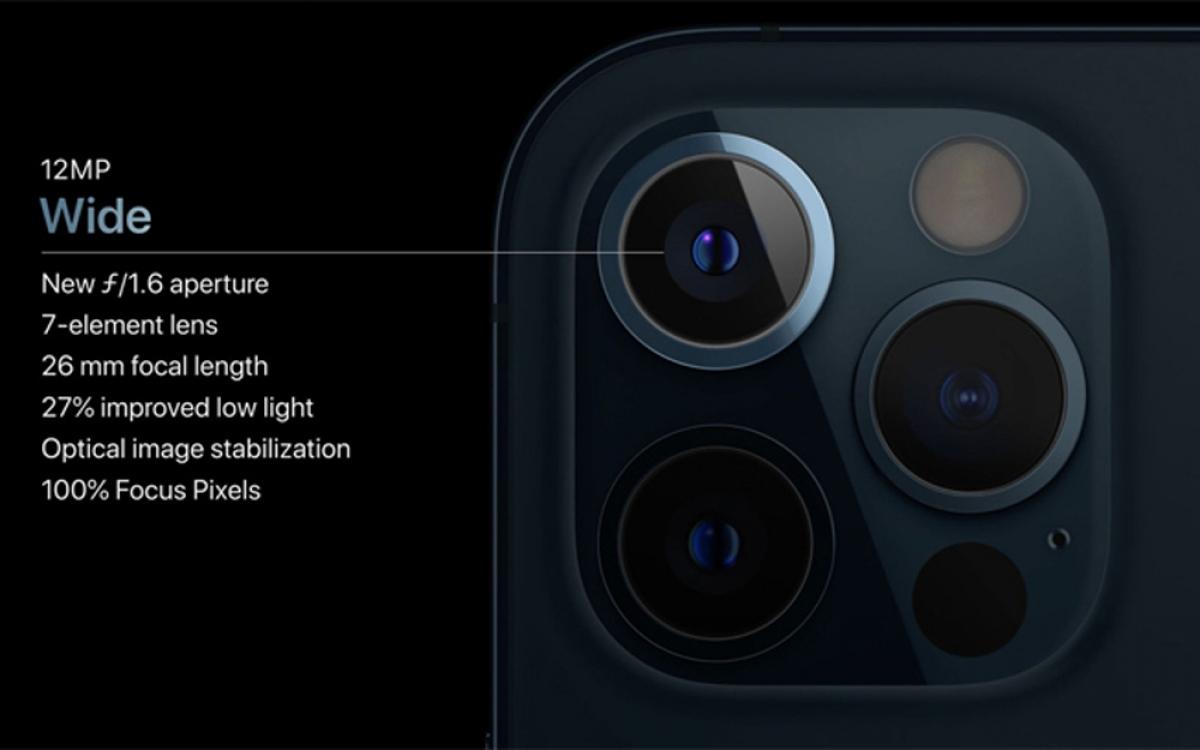Camera chính trên các phiên bản iPhone năm nay là ống kính góc rộng với khẩu độ f/1.6 và cảm biến ảnh lớn hơn.