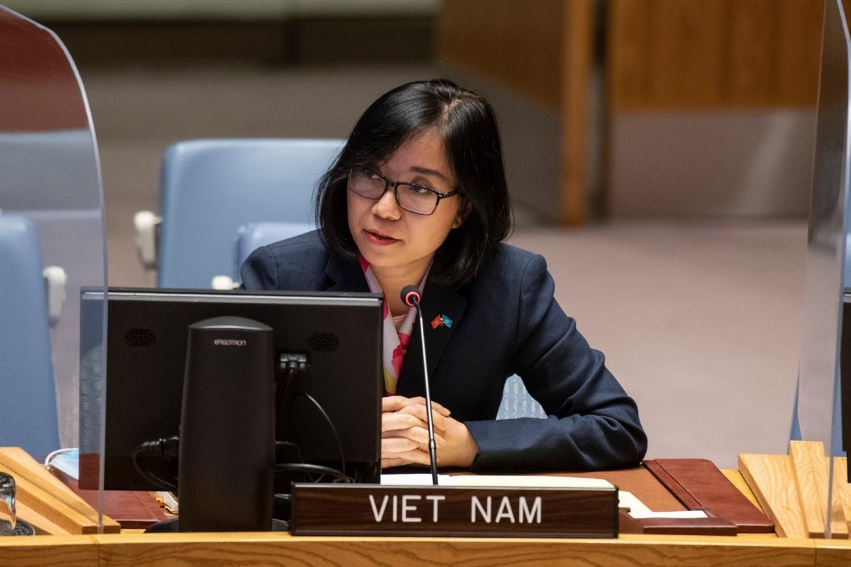 Phó Trưởng Phái đoàn Việt Nam tại Liên hợp quốc Nguyễn Phương Trà.
