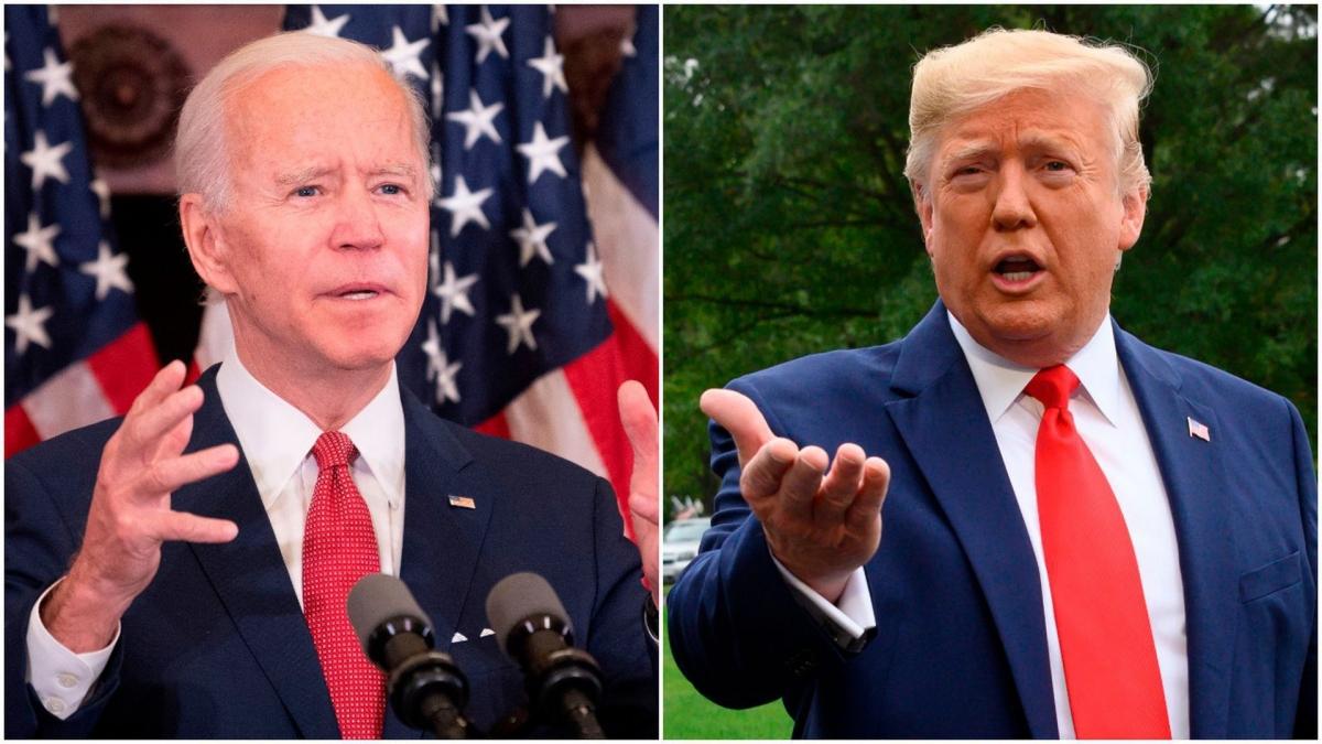 Ứng cử viên đảng Dân chủ Joe Biden và Tổng thống Trump. Ảnh: CNBC