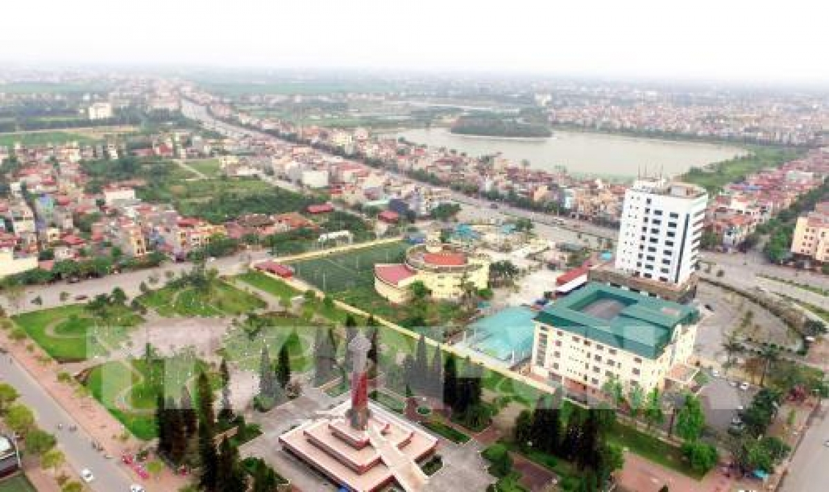 Một góc thành phố Hưng Yên. (Ảnh: Phạm Kiên - TTXVN)