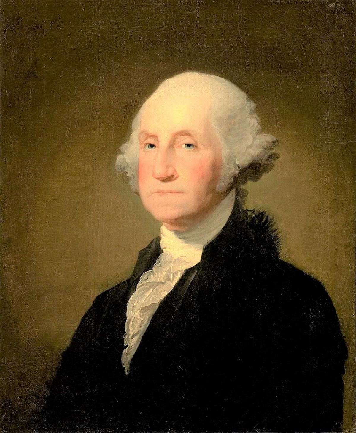 Tổng thống đầu tiên của Hoa Kỳ George Washington; Nguồn: wikipedia.org