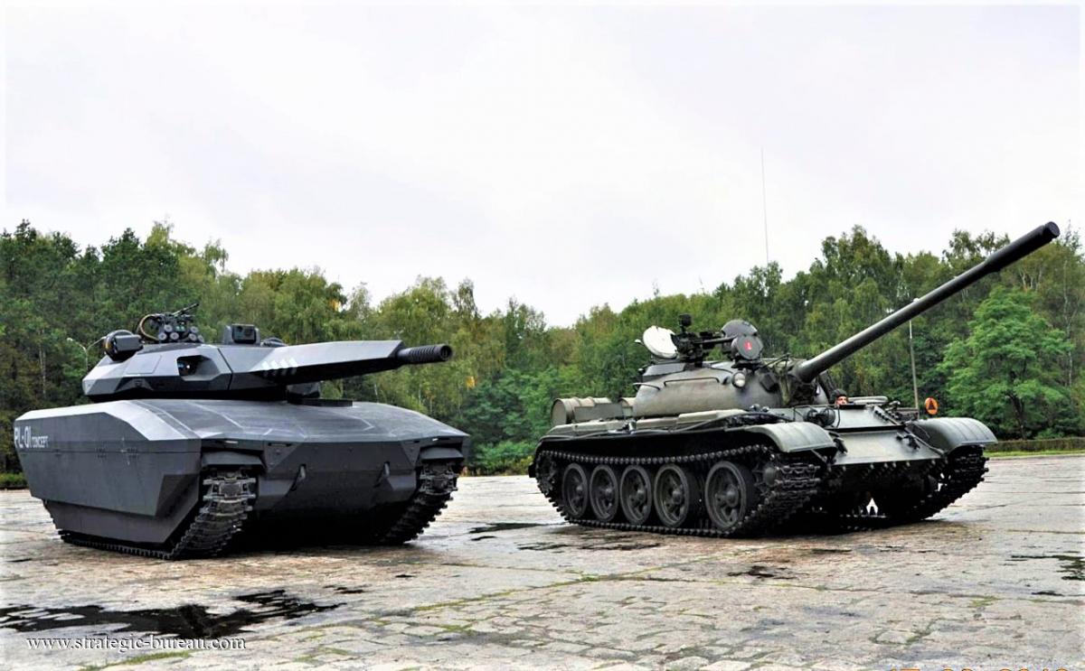 Tăng PL-01 (trái) - niềm hy vọng của Quân đội Ba Lan; Nguồn: strategic-bureau.com