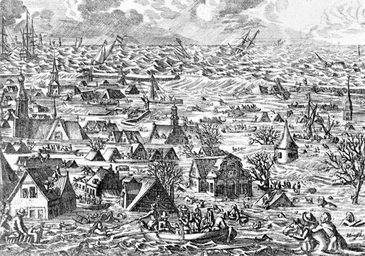 Lũ lụt đã đeo đuổi loài người, tàn phá và cướp đi nhiều sinh mạng trong suốt chiều dài lịch sử; Nguồn: wikipedia.org