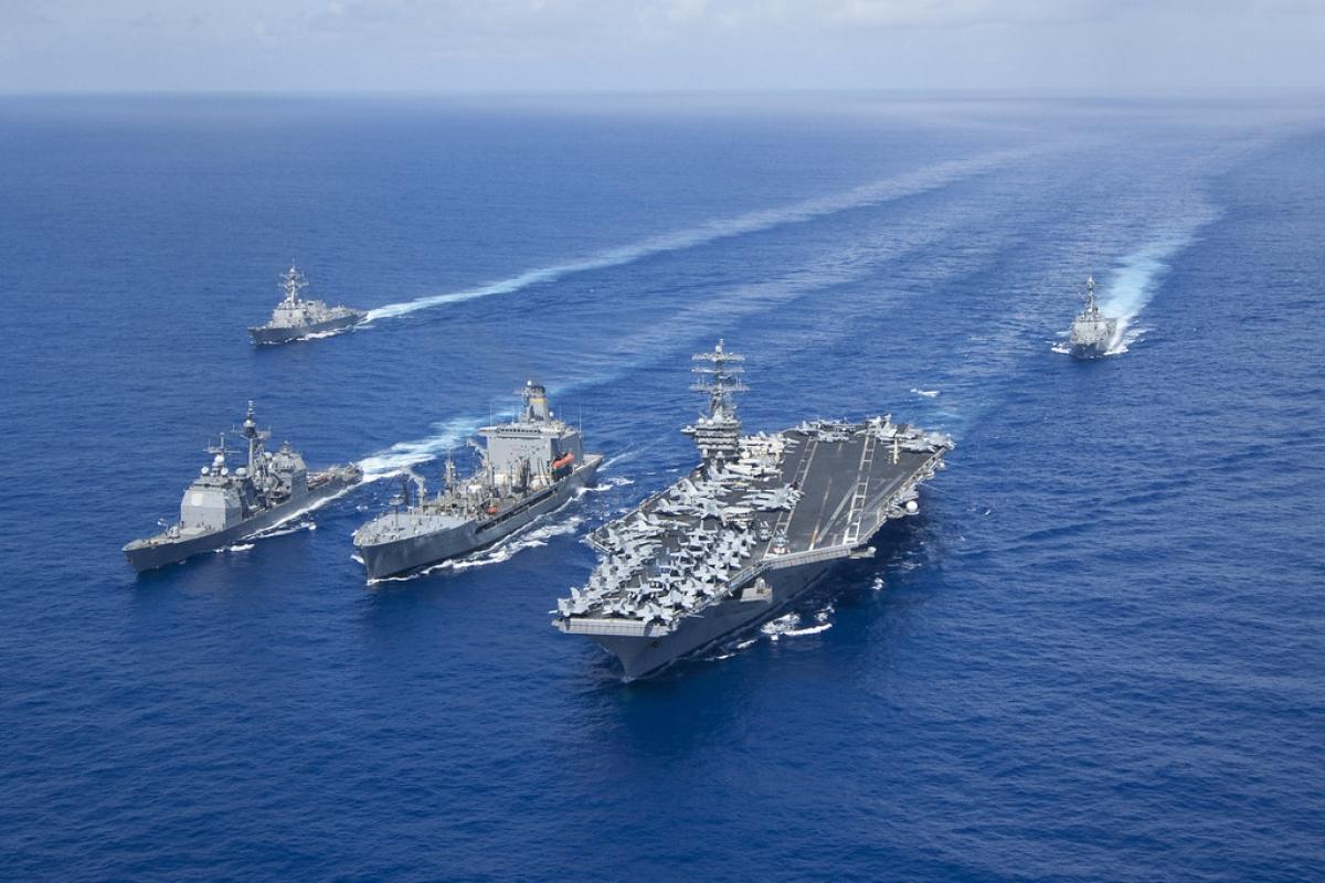 Tàu sân bay chạy bằng năng lượng hạt nhân là biểu tượng của sức mạnh quân sự Mỹ; Nguồn: cpf.navy.mil