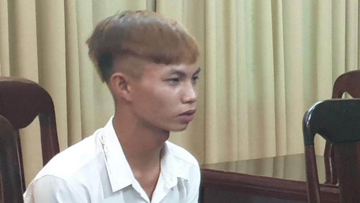 Nghi phạm Nguyễn Lâm tại cơ quan điều tra