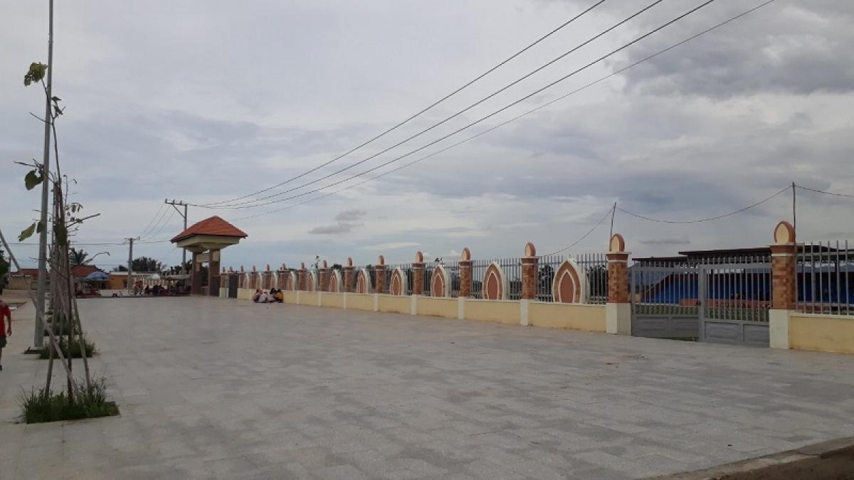 Một góc Trung tâm Văn hóa sinh hoạt cộng đồng Chăm ở khu phố Bàu Trúc, huyện Ninh Phước, tỉnh Ninh Thuận.