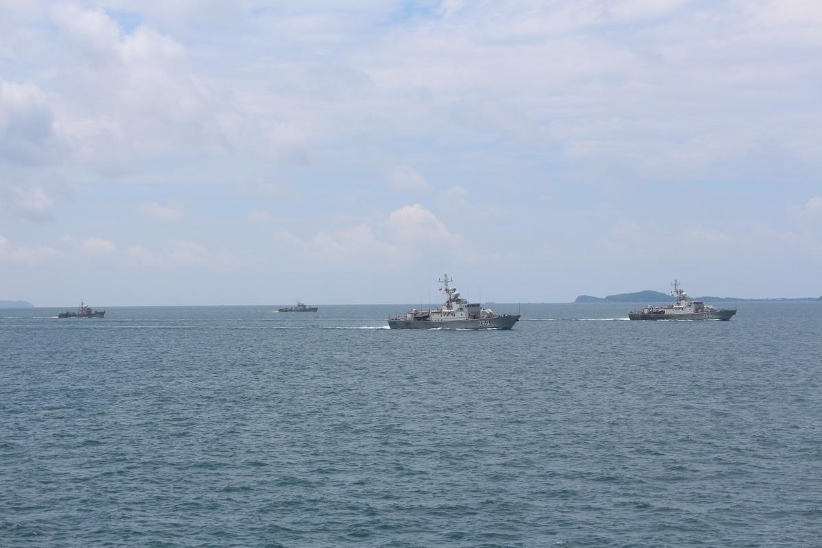Các biên đội tàu chiến đấu của Lữ đoàn 127 huấn luyện trên biển. Nguồn ảnh: Văn Định (Vùng 5 Hải quân)