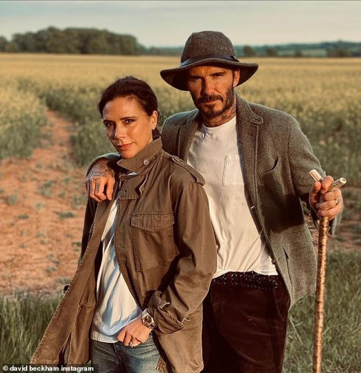 Vợ chồng David Beckham và Victoria