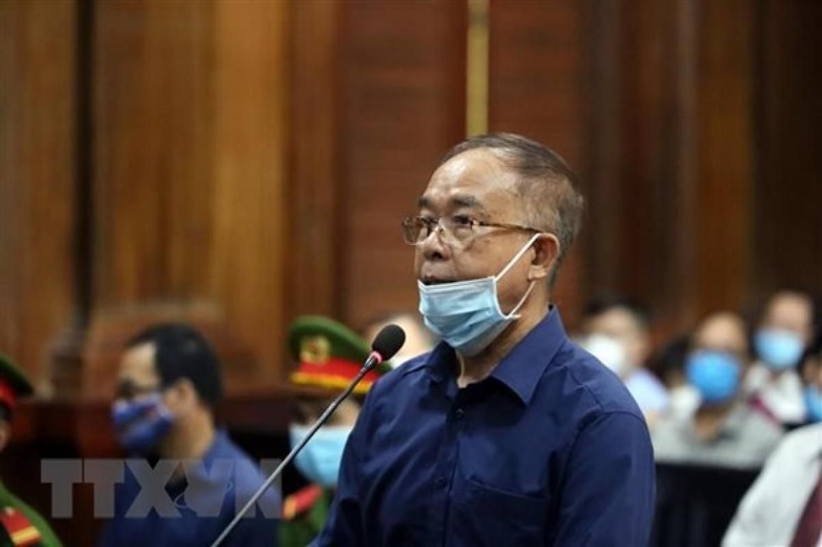Bị can Nguyễn Thành Tài, nguyên Phó Chủ tịch Ủy ban Nhân dân Thành phố Hồ Chí Minh. (Ảnh: Thành Chung/TTXVN)
