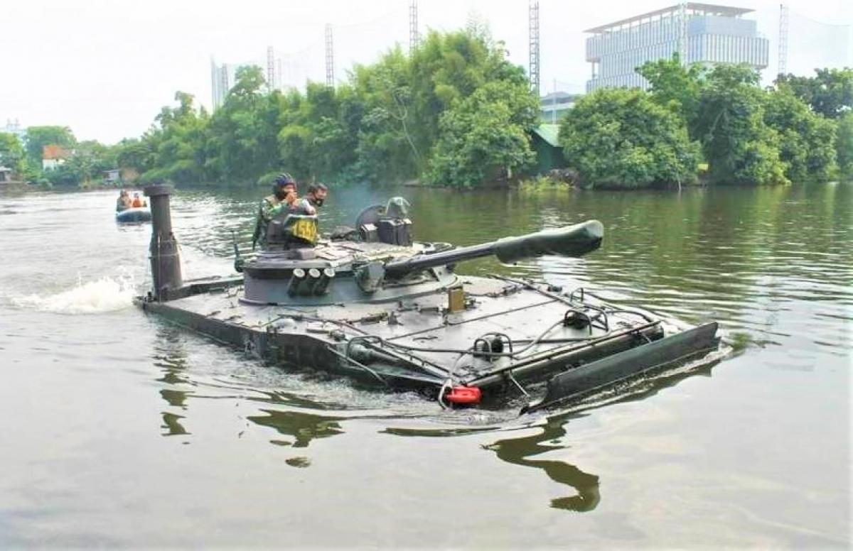 Các BMP-3F mới xuất khẩu sang Indonesia được thử nghiệm khắt khe hơn; Nguồn: topwar.ru