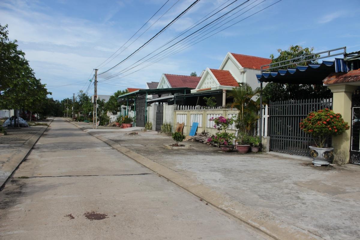 Khu tái định cư trung tâm xã Bình Dương, huyện Thăng Bình.