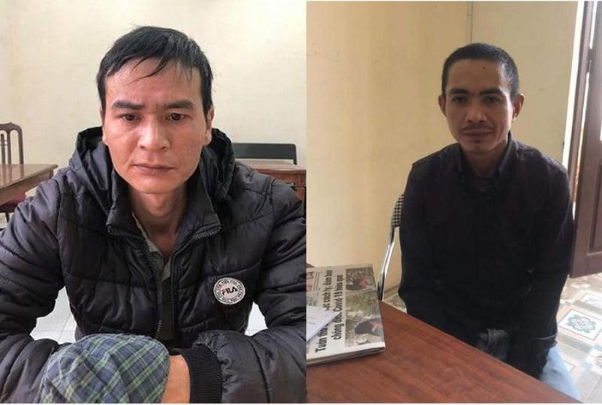 Hai đối tượng Nguyễn Xuân Trung và Nguyễn Văn Quân