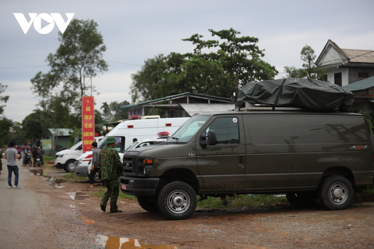 Rescue forces made up of military personnel, medics, and members of the police urgently prepare equipment and essential supplies for rescue efforts, with specialised vehicles on hand to assist in the process