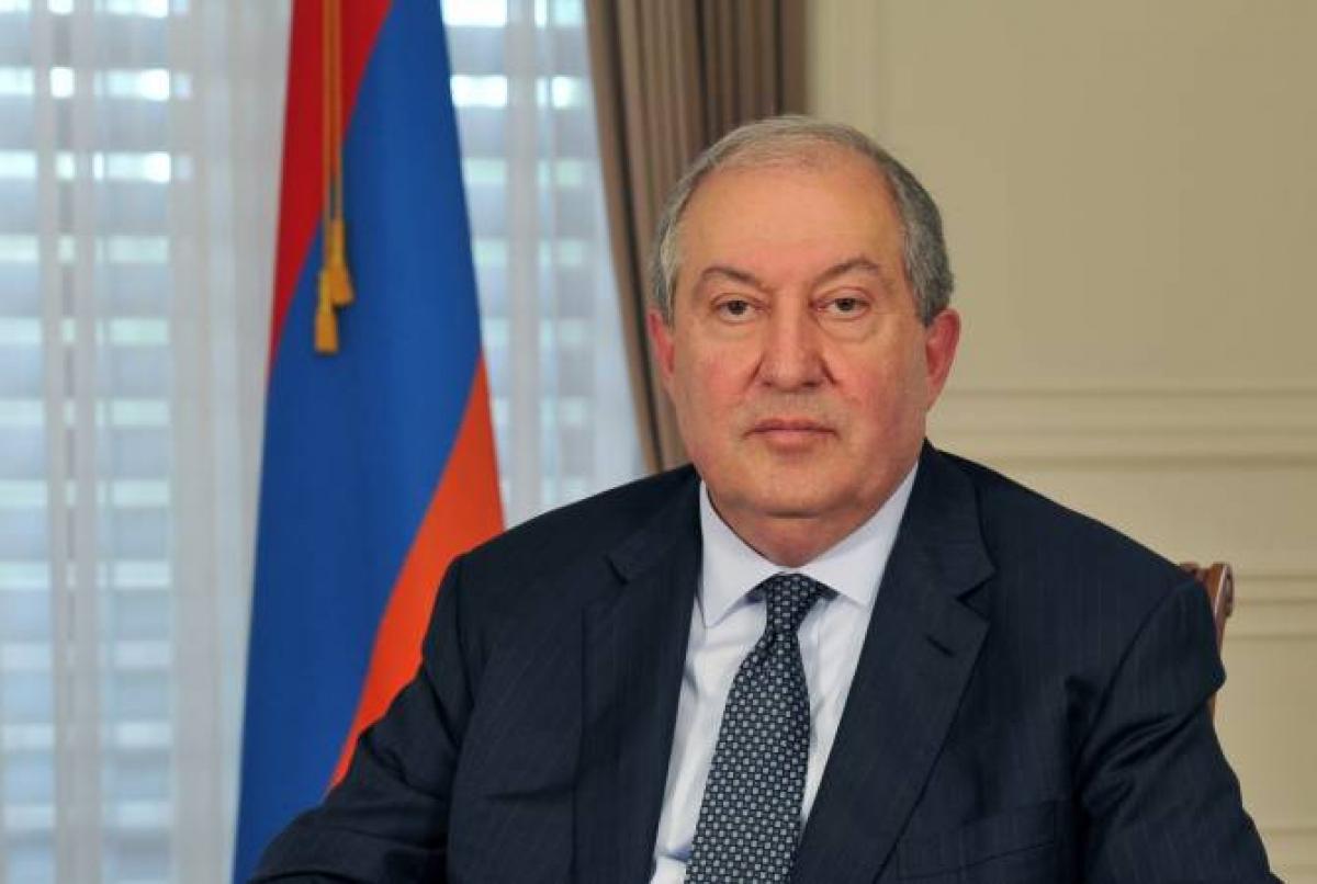 Tổng thống Armenia Armen Sarkissian. Ảnh: Reuters
