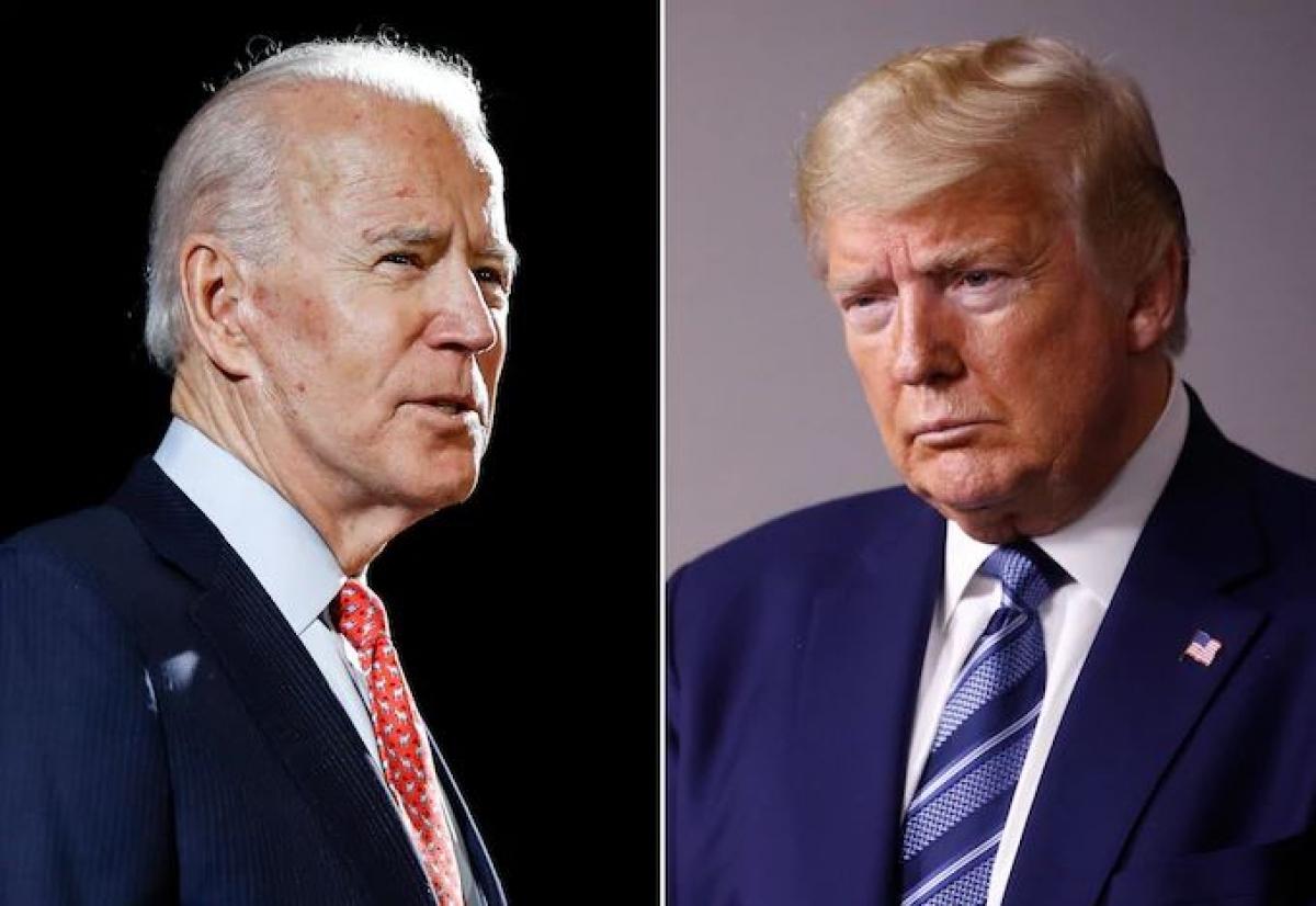Ứng viên đảng Dân chủ Joe Biden và Tổng thống Mỹ Donald Trump. Ảnh: AP