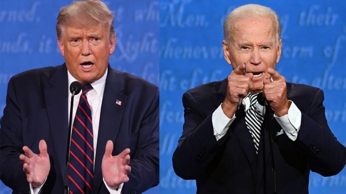 Tổng thống Trump và ứng viên Joe Biden. Ảnh: Fox News