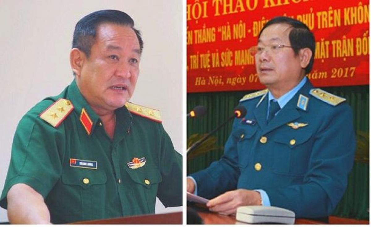 Trung tướng Võ Minh Lương (trái) và Thượng tướng Lê Huy Vịnh