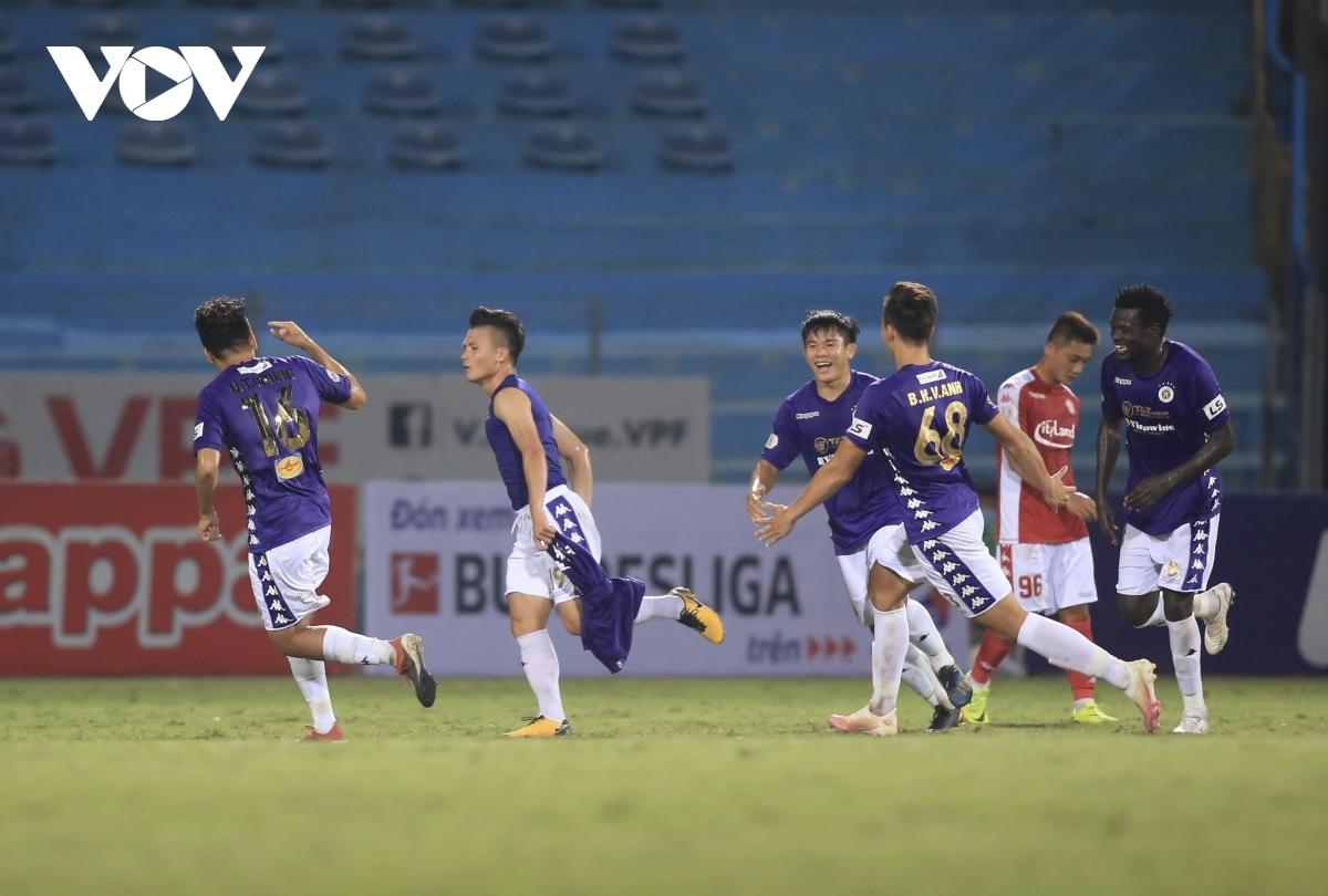 Quang Hải đã thi đấu trọn vẹn 90 phút và ghi bàn giúp Hà Nội FC đánh bại CLB TPHCM 2-0. (Ảnh: Vy Vũ).