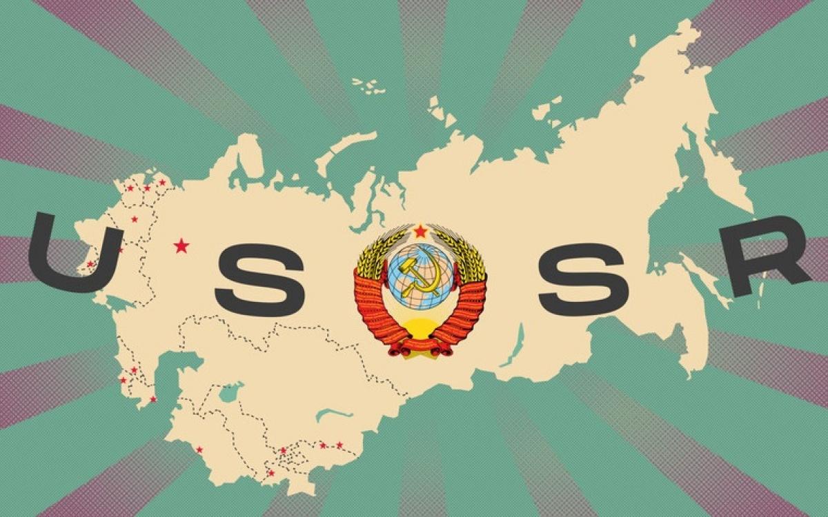 """Lãnh thổ Liên Xô – """"Liên minh/Liên bang Xô viết"""". Đồ họa: Alexander Kislov."""