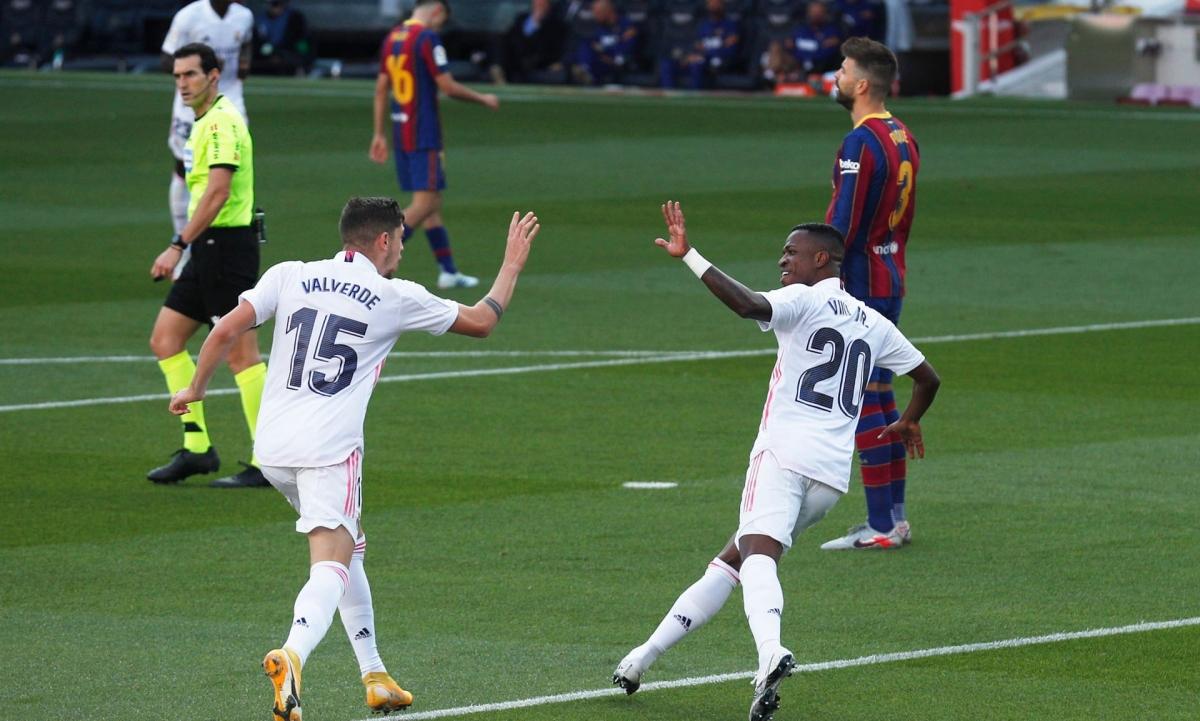 Valverde bất ngờ mở tỷ số cho Real. (Ảnh: Reuters).
