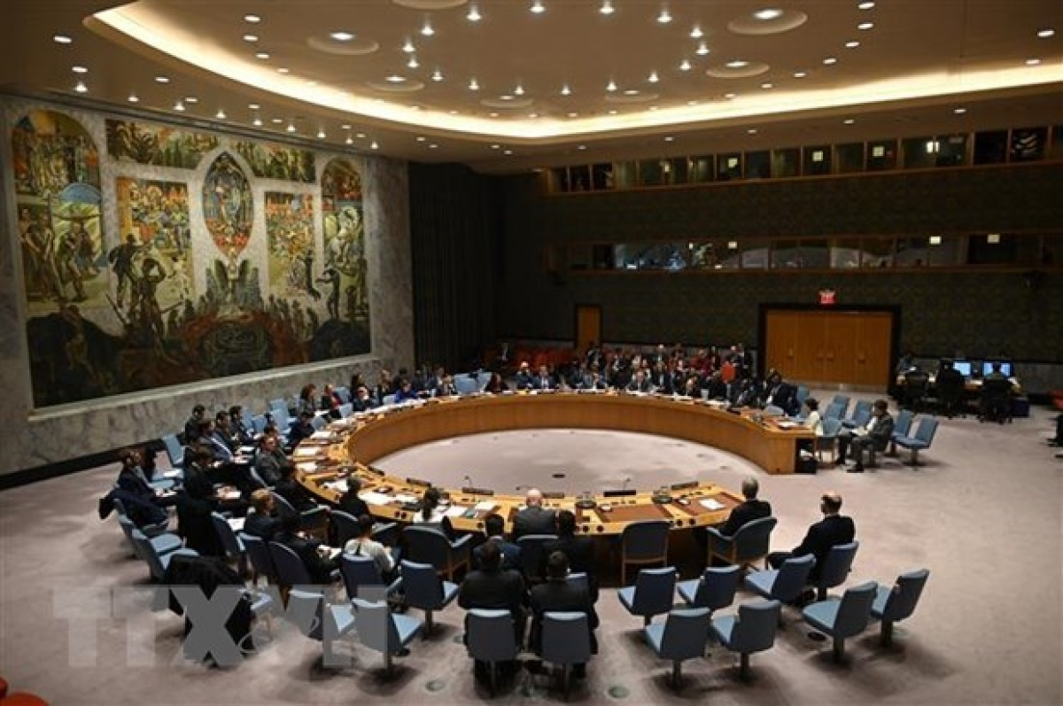 A panoramic view of a UNSC meeting. (Photo: AFP/VNA)