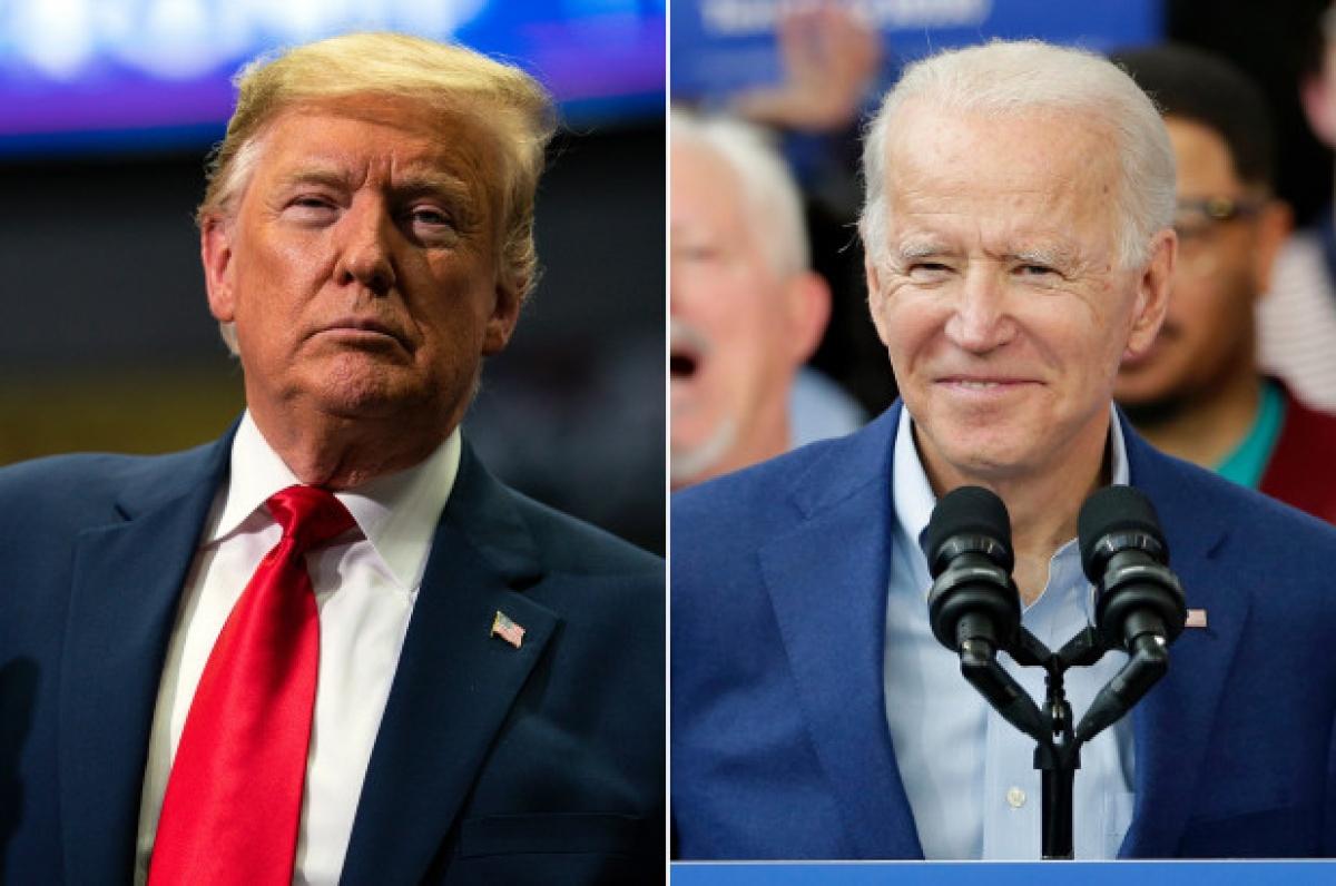 Ứng cử viên đảng Dân chủ Joe Biden đang chiếm ưu thế so với đương kimTổng thống Donald Trump tại các cuộc thăm dò. (Ảnh: AP).