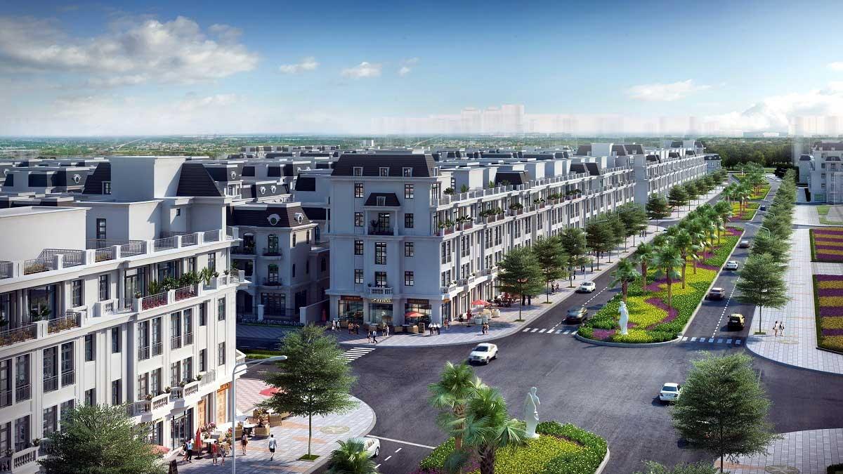 Đại lộ châu Âu – Đại lộ sầm uất bậc nhất khu đô thị Vinhomes Star City.