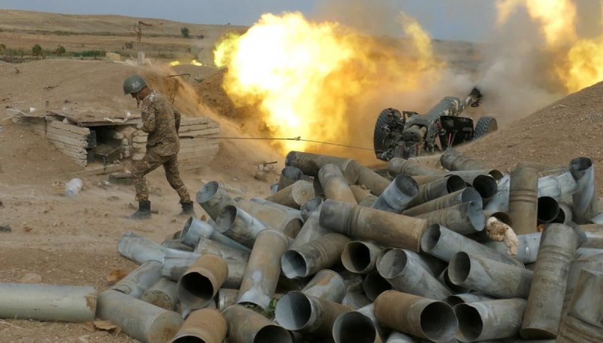 Xung đột ở khu vực Nagorno-Karabakh giữa Armenia và Azerbaijan. Ảnh: Reuters