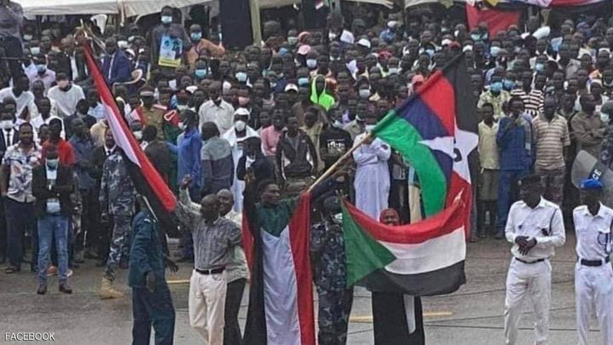 Người dân Sudan ăn mừng thỏa thuận hòa bình ở Juba - Ảnh Skynewsarabia.