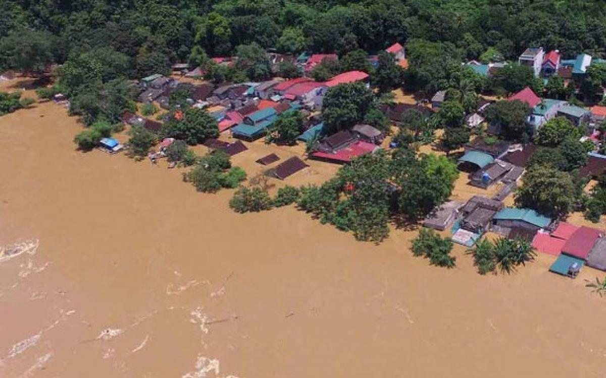 Lũ các sông ở Nghệ An, Hà Tĩnh đang dâng cao (ảnh minh họa).